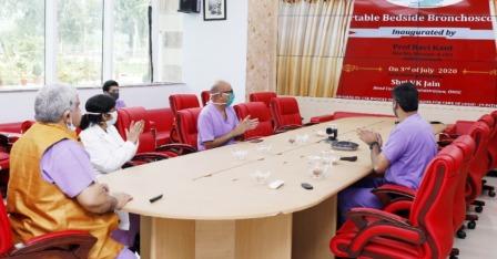 AIIMS Rishikesh: एम्स ऋषिकेश में कोरोना रोगियों को पोर्टेबल बेडसाइड ब्रोकोस्कोपी की सुविधा शुरू