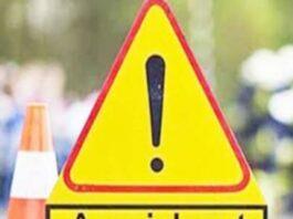 Accident: सामान से लदा ट्रक खाई में गिरा, एक की मौत, एक घायल