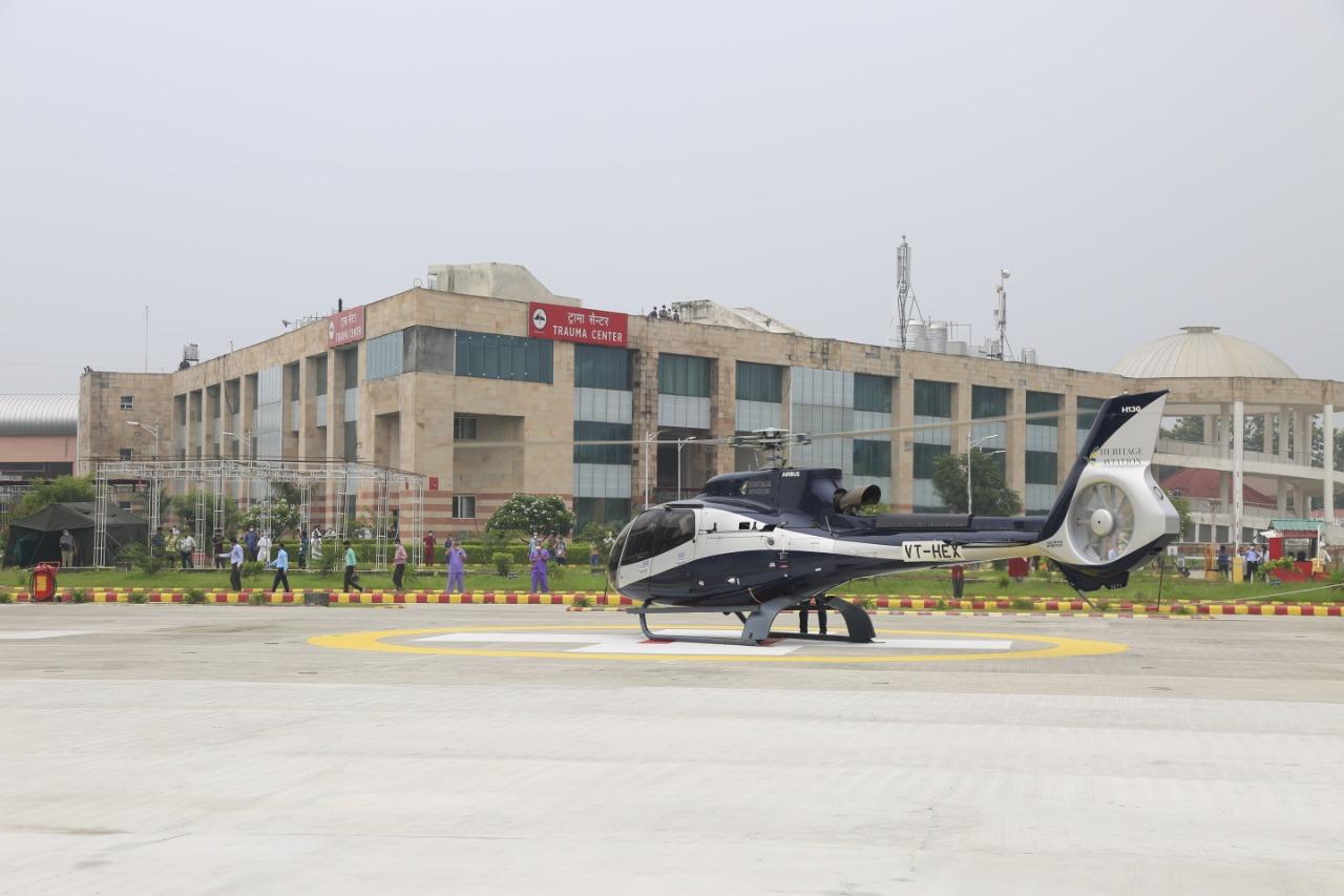 एयर एंबुलेंस हैलीपैड को डीजीसीए से मिली रेग्युलर हवाई ऑपरेशन की अनुमति