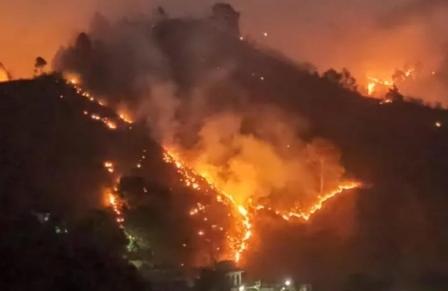 उत्तराखण्ड के पहाड़ी क्षेत्रों के जंगलों में लगातार बेकाबू होती आग
