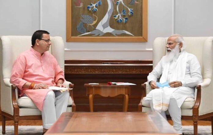 मुख्यमंत्री धामी ने की पीएम मोदी से मुलाकात, कई परियोजनाओं पर की चर्चा