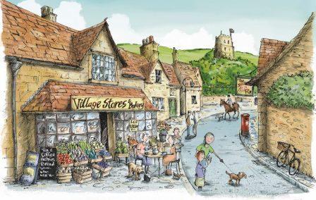 वो गांव की दुकान