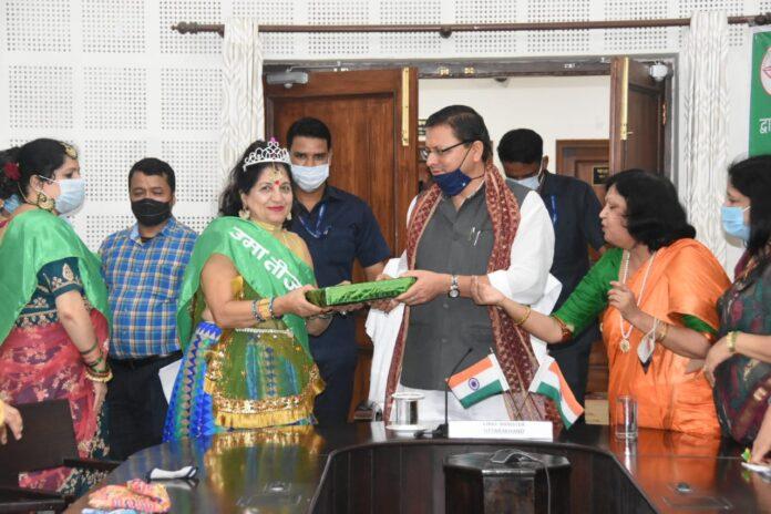 मुख्यमंत्री ने किया उमा तीज सुंदरी, उमा तीज मलिका विजेता महिलाओं को सम्मानित