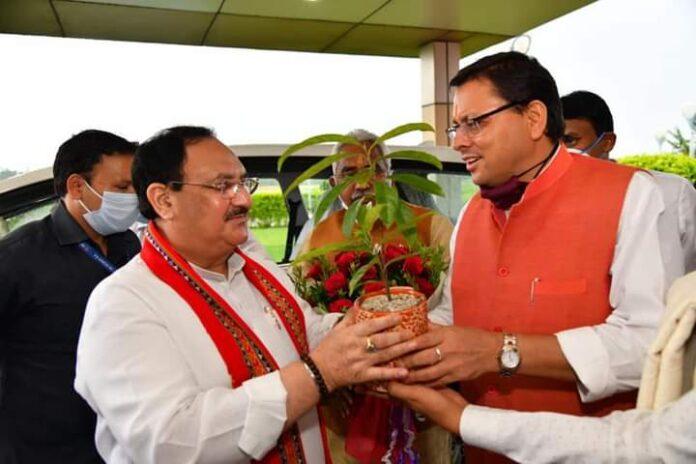 दो दिवसीय दौरे पर उत्तराखण्ड पहुंचे भाजपा के राष्ट्रीय अध्यक्ष जेपी नड्डा