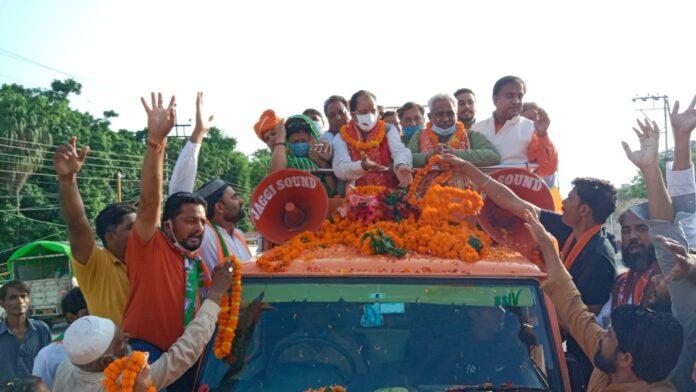 भाजपा की जन आशीर्वाद यात्रा: कार्यकर्ताओं ने किया केंद्रीय मंत्री अजय भट्ट का भव्य स्वागत
