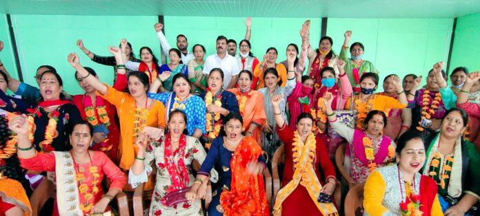 उजपा महिला प्रकोष्ठ ने की नई टिहरी शहर की 55 सदस्यीय कार्यकारिणी घोषित