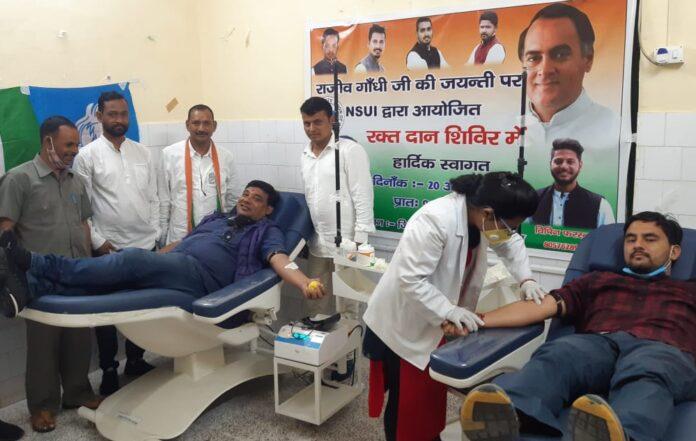 कांग्रेस काबदरीनाथ धाम कूच, भारत रत्न स्व.राजीव गाँधीकी जयंती पर किया रक्तदान