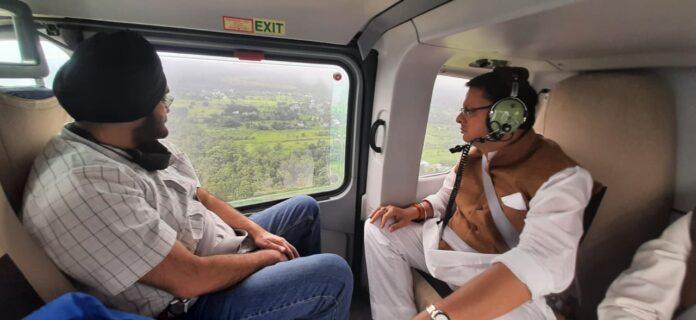 मुख्यमंत्री धामी ने किया गढ़वाल के आपदाग्रस्त क्षेत्रों का हवाई सर्वेक्षण