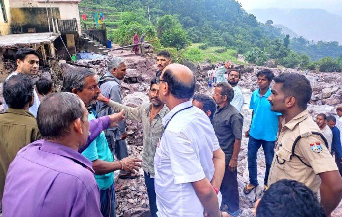 कैबिनेट मंत्री सुबोध उनियाल ने किया आपदा प्रभावित गांवों का दौरा
