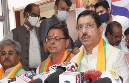 सीएम पुष्कर सिंह धामी के नेतृत्व में चुनाव, चुनाव बाद भी धामी ही होंगे सीएमः प्रह्लाद जोशी